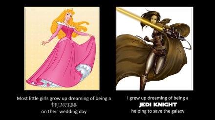 (Princess aurora belongs to Disney; Jedi art by Saehral)